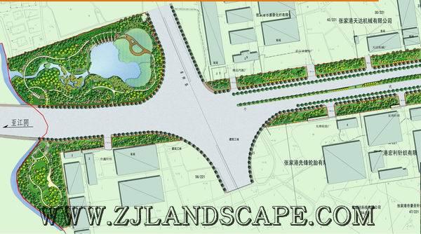 张家港入城口道路绿化设计 浙江省风景园林设计院