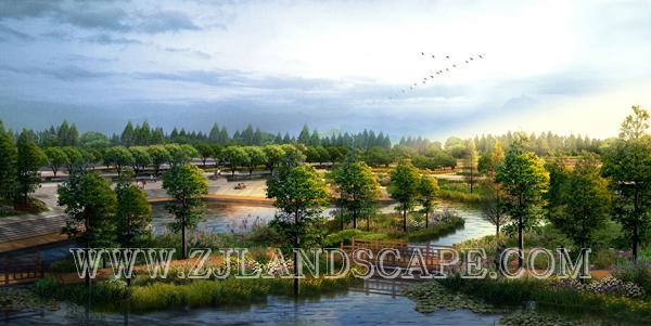 沾益县西河城市景观河道(公园)规划及绿地景观方案设计